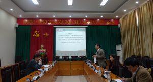 """Nghiệm thu đề tài cấp cơ sở: """"Nghiên cứu đề xuất mô hình liên kết giữa HTX với doanh nghiệp trong tổ chức sản xuất, bảo quản và tiêu thụ Cam tại Nghệ An (Nghĩa Đàn – Vinh)"""