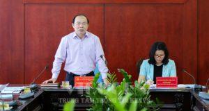 Chủ tịch Nguyễn Ngọc Bảo chủ trì buổi làm việc triển khai kế hoạch xây dựng HTX sản xuất gắn chuỗi giá trị