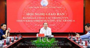 Chủ tịch Nguyễn Ngọc Bảo chủ trì Hội nghị Giao ban đánh giá công tác tháng 5/2019