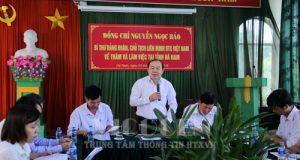 Chủ tịch Nguyễn Ngọc Bảo làm việc tại Hà Nam