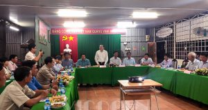 Chủ tịch Nguyễn Ngọc Bảo làm việc với Hội quán tại Đồng Tháp