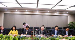 Chủ tịch Nguyễn Ngọc Bảo làm việc với Liên đoàn HTX Cung tiêu Trung Quốc
