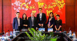 Chủ tịch Nguyễn Ngọc Bảo tiếp ông Harm Havekort, Giám đốc Agriterra Việt Nam