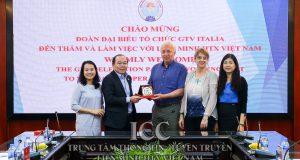 Chủ tịch Nguyễn Ngọc Bảo tiếp và làm việc với tổ chức GTV Italia  01/04/2019
