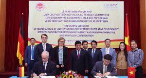 Liên minh HTX Việt Nam và Liên đoàn quốc gia HTX Raiffeisen CHLB Đức: Hợp tác chiến lược toàn diện