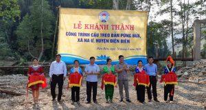Lãnh đạo Liên minh HTX Việt Nam khánh thành cầu treo dân sinh xã Na Ư (Điện Biên)