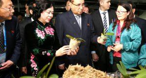 Phái đoàn cấp cao Nhà nước Triều Tiên thăm Hợp tác xã Đan Hoài (huyện Đan Phượng, Hà Nội)