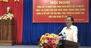 Phó Chủ tịch Nguyễn Mạnh Cường dự hội nghị tổng kết 15 năm thực hiện Nghị quyết số 13 tại Cà Mau