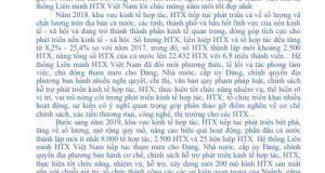 Thư chúc mừng năm mới của Chủ tịch Liên minh HTX Việt Nam